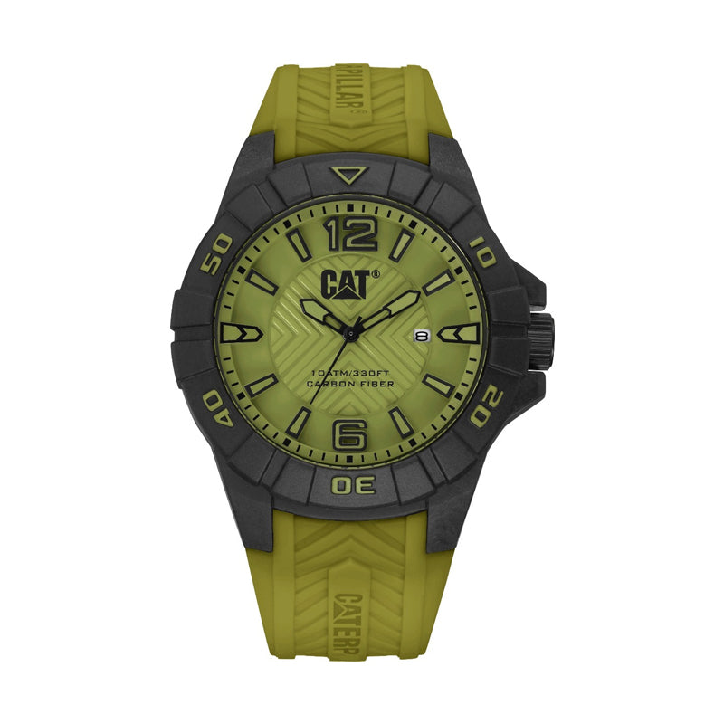 RELOJ CATERPILLAR K112123331  KARBON - MILITARY GREEN DIAL / 45.5 MM / MILITARY GREEN SILICONE STRAP.
