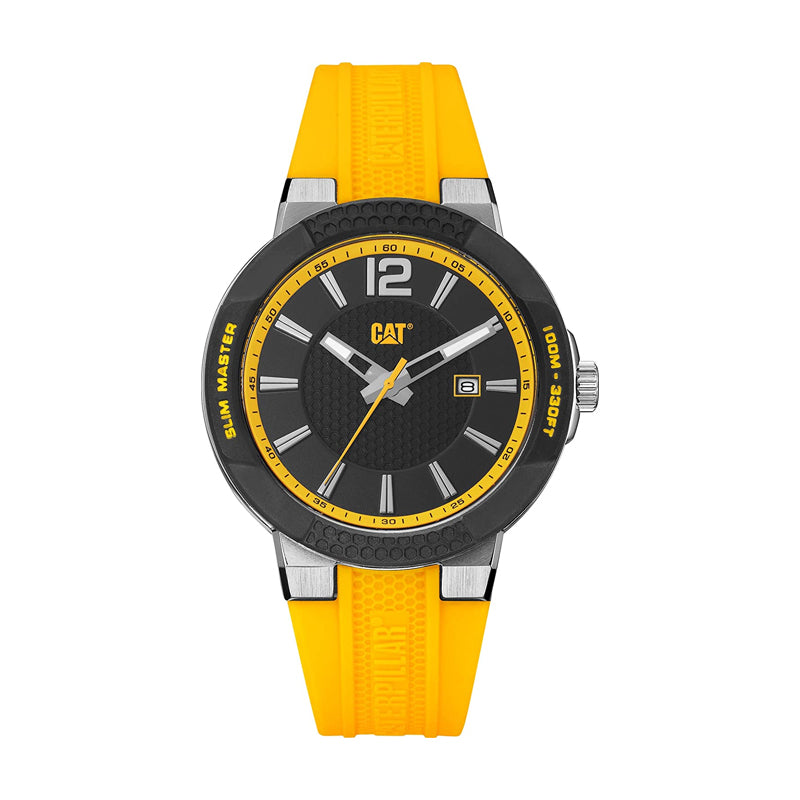 RELOJ CATERPILLAR SH14127131  SHOCK SLIM - BLACK DIAL / 43.5MM / YELLOW SILCIONE STRAP