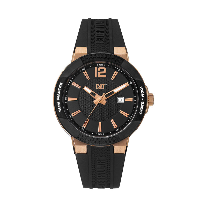 RELOJ CATERPILLAR SH19121139  SHOCK SLIM- BLACK   ROSE GOLD DIAL/ BLACK SILICONE
