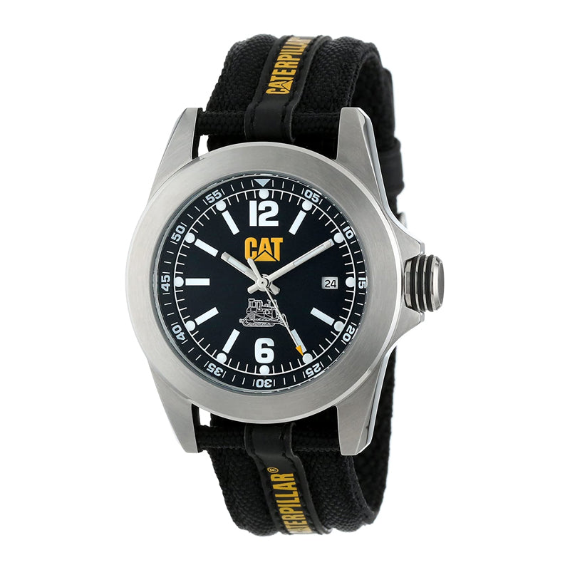 RELOJ CATERPILLAR YA14164131  BIG TWIST XL DATE 40 - BLACK / BLACK ARABIC / BLACK YELLOW NYLON STRAP