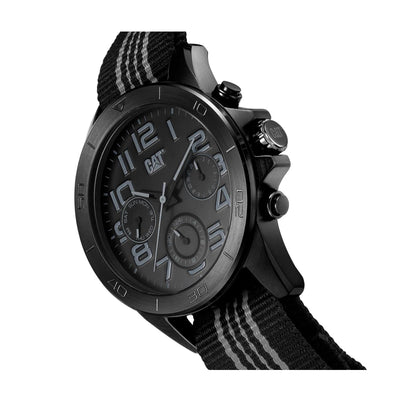 RELOJ CATERPILLAR YT16965115  YT MULTI - BLACK DIAL / 45MM / BLACK NYLON STRAP