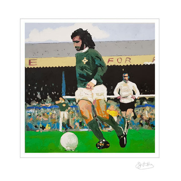 George Best - Green and White Army - Limited Edition Print