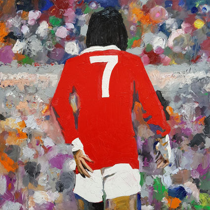 George Best Simply the Best - Silk Pocket Square