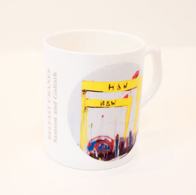 Belfast Crane - Bone Chine Mug - Boxed
