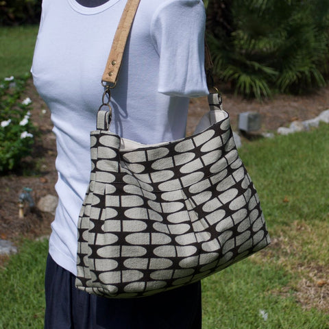 Pleated Handbag with Cork Handle - Choose Your Print