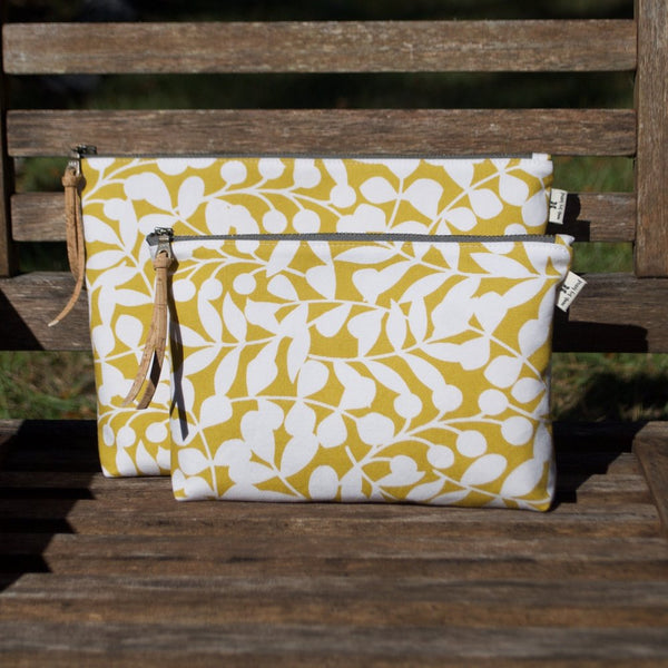 Slim Zip Pouch Citron Branch - 3 Sizes