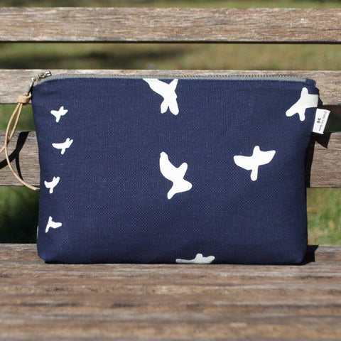 Slim Zip Pouch Navy Flight - 3 Sizes