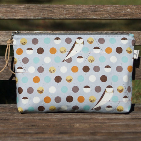 Slim Zip Pouch Barn Swallow Sky - 3 Sizes