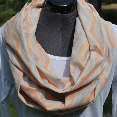 Year-Round Infinity Scarf Multi-Color Chevron
