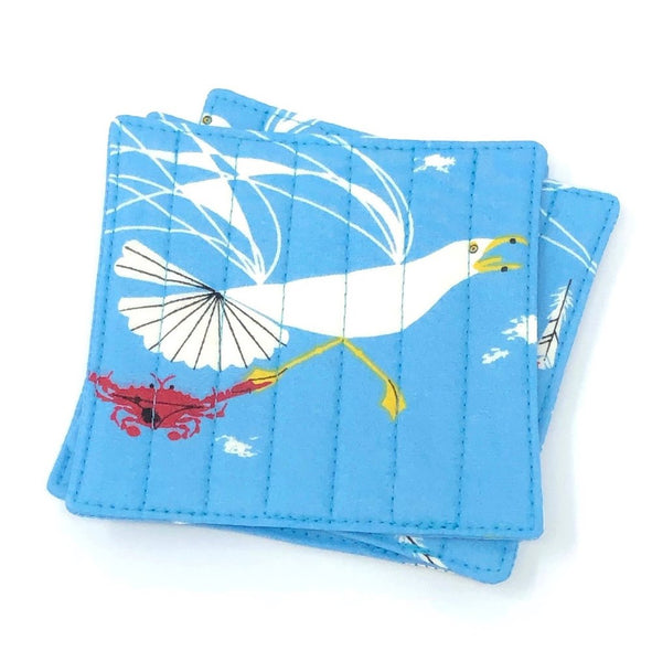 Coasters Set of 4 Charley Harper Crab & Seagull