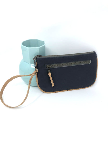 Essential Clutch Gray & Cork