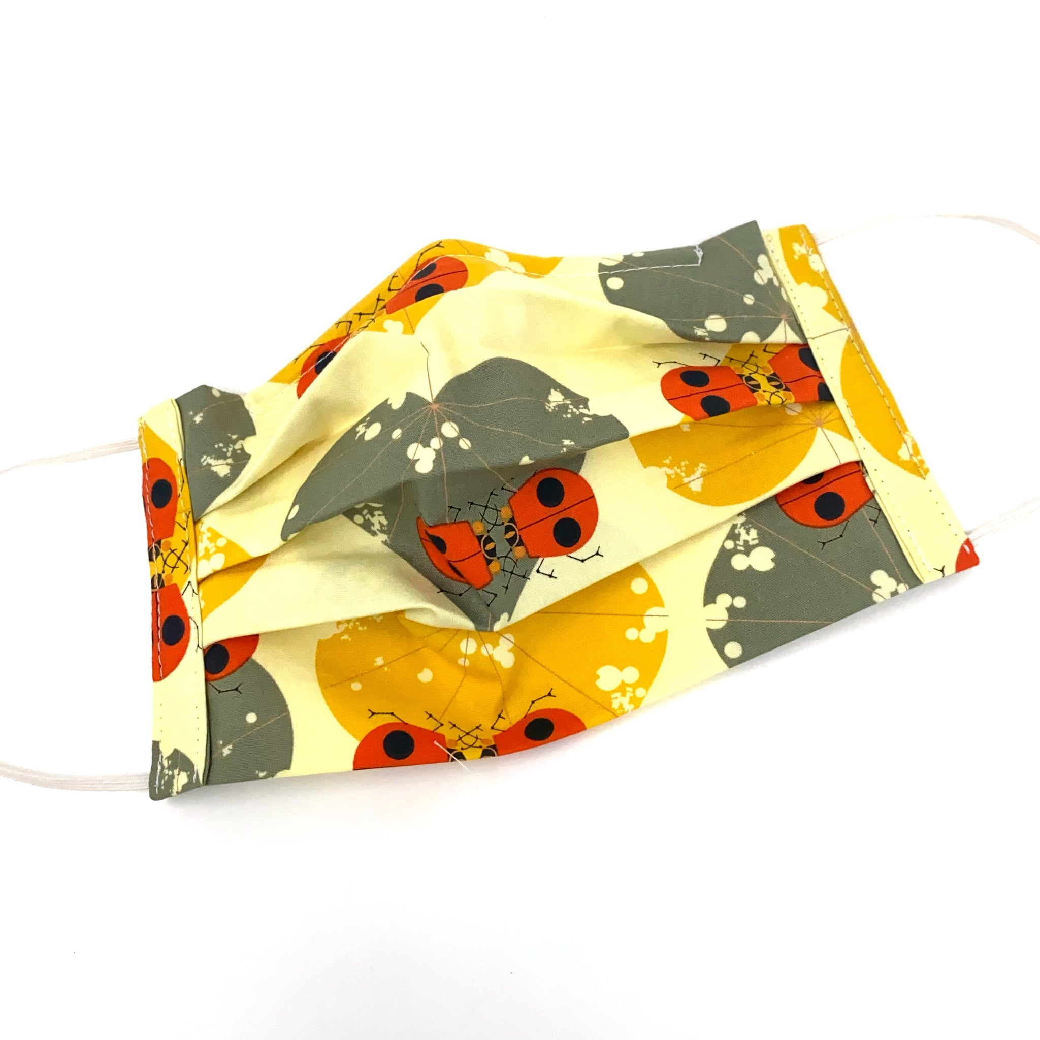 Organic Cotton Face Mask - Charley Harper Ladybug Lovers