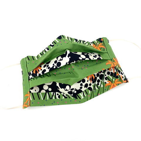 Organic Cotton Face Mask - Charley Harper Cow Line