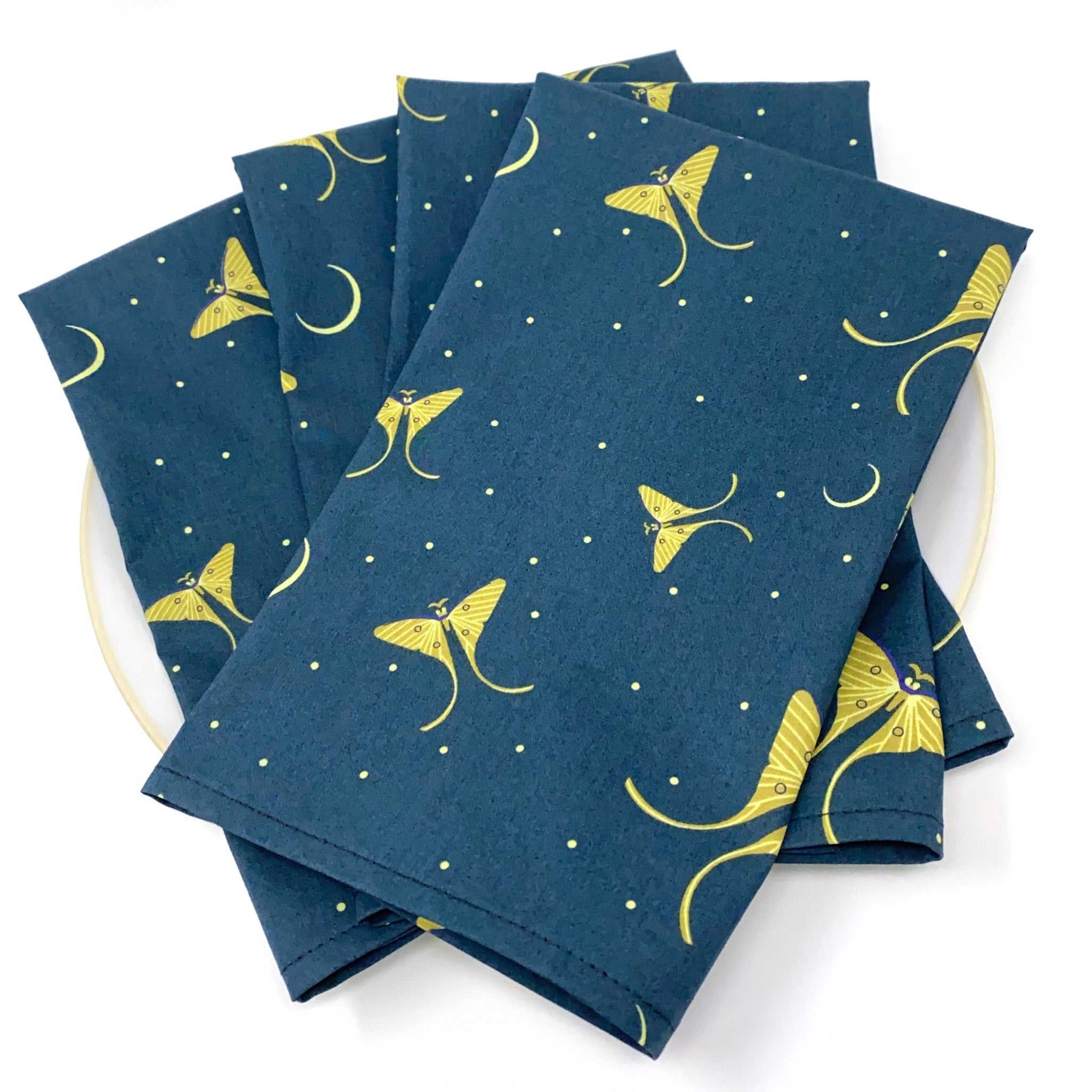 Organic Napkins - Set of 4 Charley Harper Luna Moth Flight