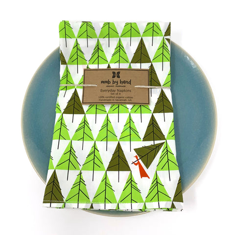 Organic Napkins - Set of 4 Charley Harper Perfect Tree