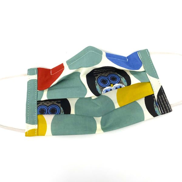 Organic Cotton Face Mask - Charley Harper Family Owlbum