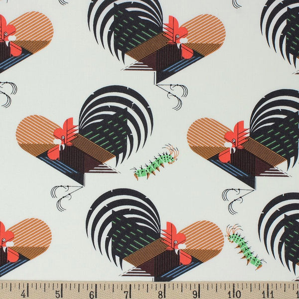Organic Cotton Face Mask - Charley Harper Crawling Tale