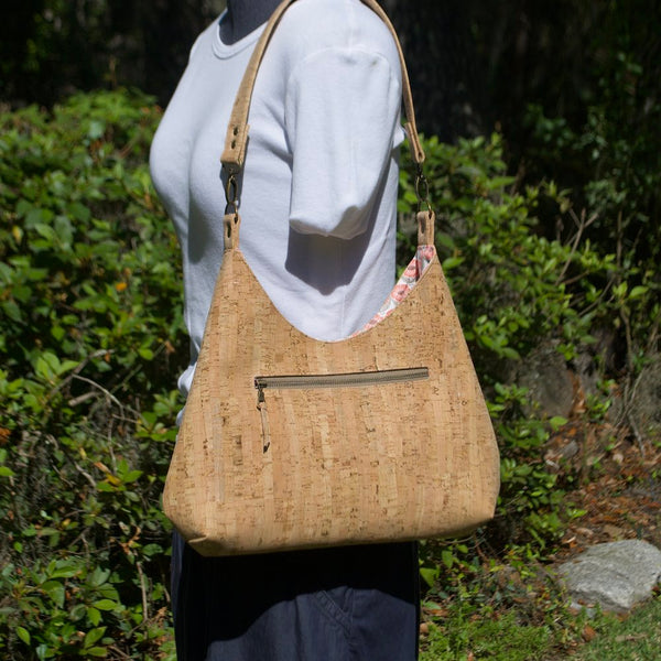 Hobo Bag Sustainable Cork - Customize Your Lining!