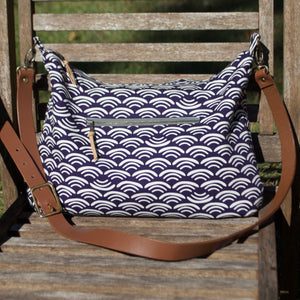 Slouchy Hobo Deep Purple Wave