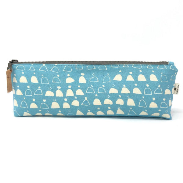 Pencil/Oblong Pouch Blue Swell