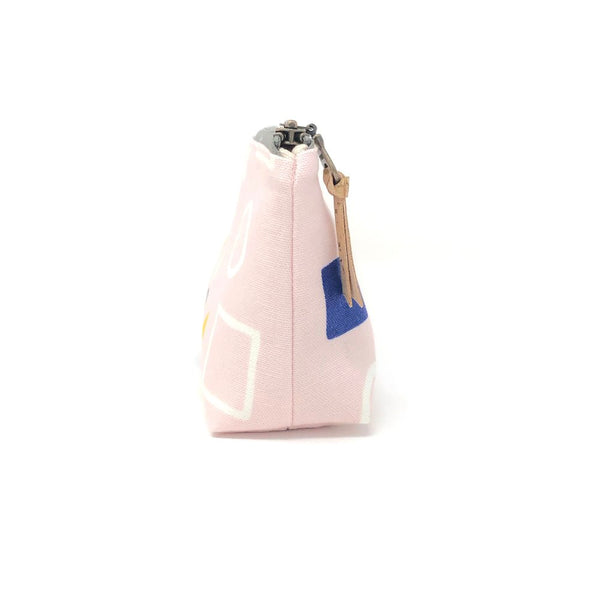 Pencil/Oblong Pouch Pink Geometry