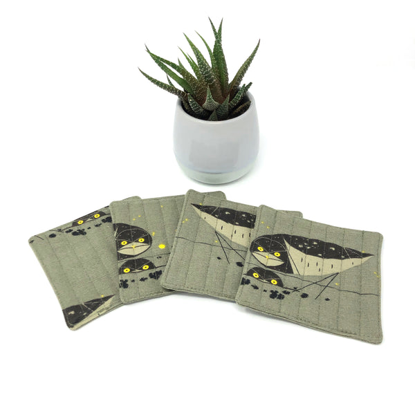 Coasters Set of 4 Charley Harper Burrowing Owl