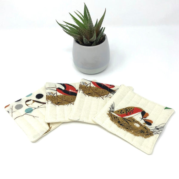 Coasters Set of 4 in Charley Harper Bird Architects
