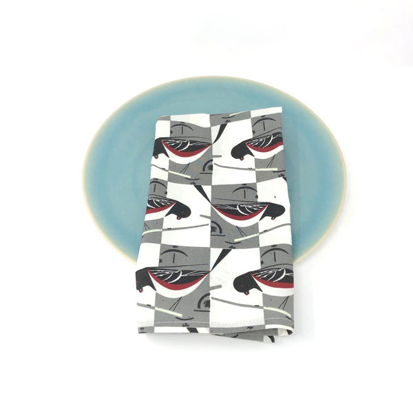 Organic Napkins - Set of 4 Charley Harper Spotted Towhee