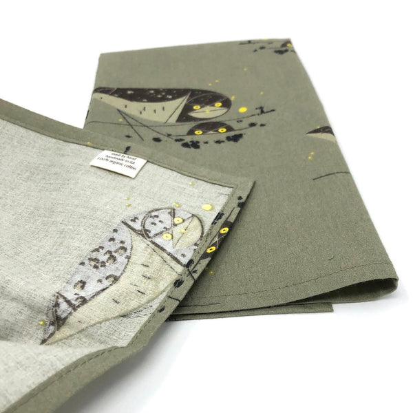 Organic Napkins - Set of 4 Charley Harper Burrowing Owl