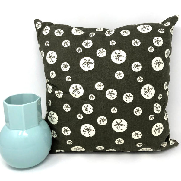 Throw Pillow Cover Charley Harper Brown Sand Dollars