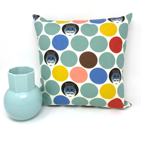 Throw Pillow Cover Charley Harper Family Owlbum