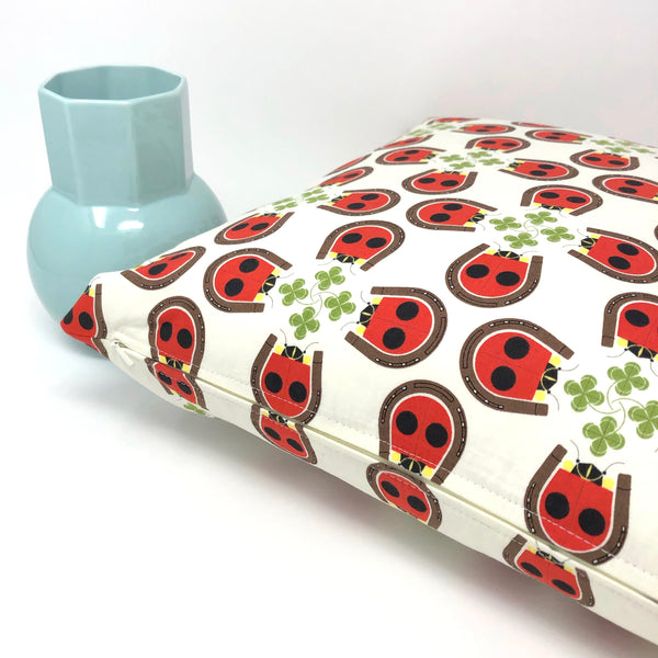 Throw Pillow Cover Charley Harper Lucky Ladybug