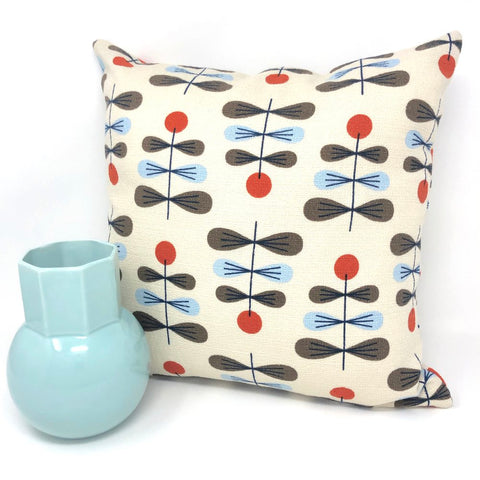 Throw Pillow Cover Barkcloth Zenith