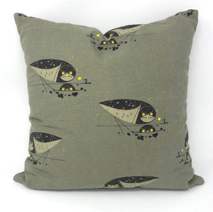 Throw Pillow Cover Charley Harper Burrowing Owl