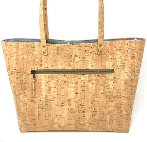 Bucket Tote Sustainable Cork  - Customize Your Lining!