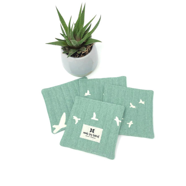 Coasters Set of 4 Birds in Flight Mineral