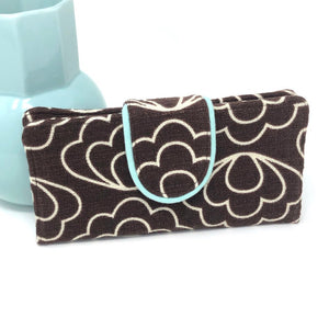Organizer Wallet Retro Brown Flowers