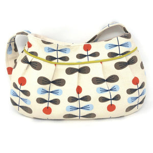 Retro Modern Handbag in Zenith Barkcloth