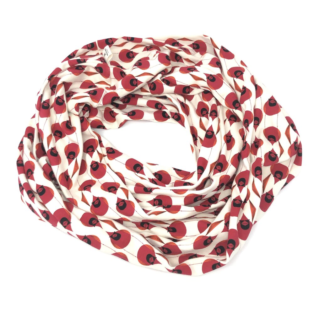 Infinity Scarf Charley Harper Cardinal Stagger