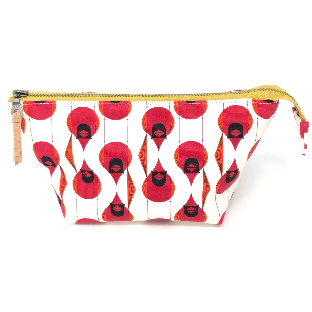 Open Wide Pouch Charley Harper Cardinal Stagger - 3 Sizes