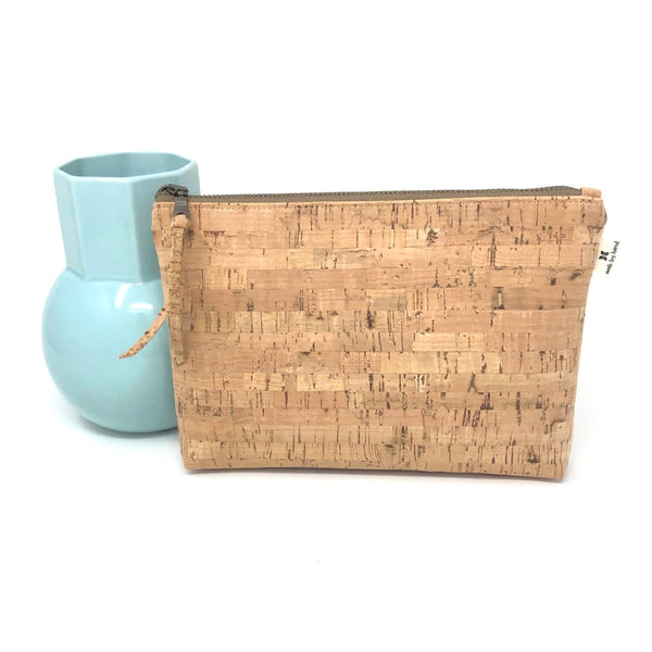 Slim Zip Pouch Sustainable Cork - 3 Sizes