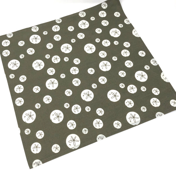 Organic Napkins - Set of 4 Charley Harper Brown Sand Dollars
