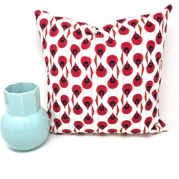 Throw Pillow Cover Charley Harper Cardinal Stagger