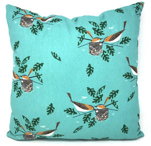Throw Pillow Cover Charley Harper Red Eye Vireo