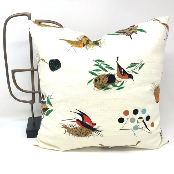 Throw Pillow Cover Charley Harper Bird Architects