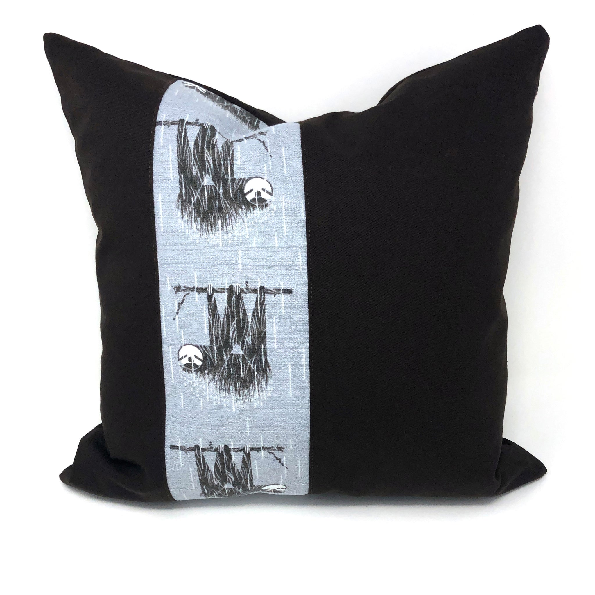 Throw Pillow Cover Charley Harper Barkcloth SLOTHS!