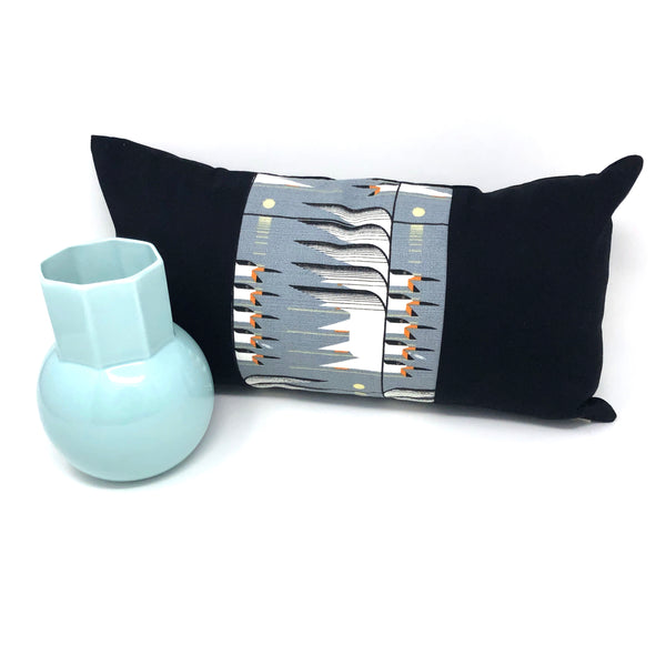 Lumbar Throw Pillow Cover in Charley Harper Skimmerscape Panel