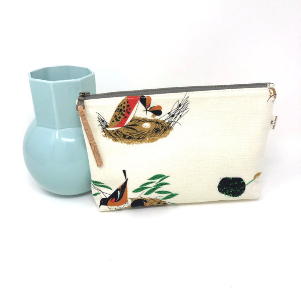 Slim Zip Pouch Charley Harper Bird Architects - 3 Sizes