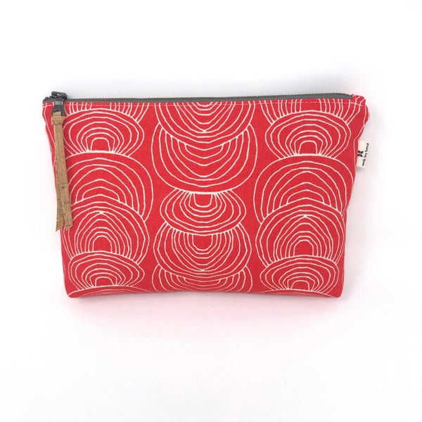 Slim Zip Pouch Red Ripple - 3 Sizes