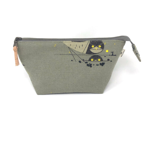 Open Wide Pouch Charley Harper Burrowing Owls